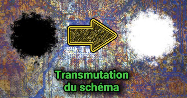 Image du texte transmutation du schéma de Charles Ostiguy, écriture